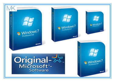Çin Microsoft For SP1 Windows 7 Professional 64 Bit Retail System Builder DVD Retail Pack Fabrika